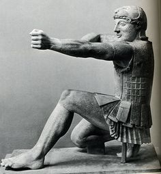 Archer for the East Pediment of the Temple of Aphaia at Aegina, ca. 480 BC Signifying the beginning of the classical era. The temple from which these statues originate initially had the same sculptural program (ca. 500 BC), however, the East Pediment sculptures were for some reason replaced in 480 BC. The new cycle illustrated the drastically new direction of Greek sculpture.