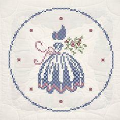 0 point de croix silhouette femme en crinoline - cross stitch crinoline lady silhouette