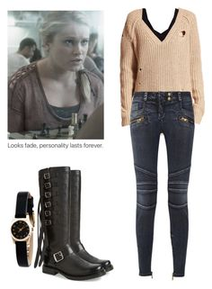 Clarke Griffin - The 100 by shadyannon on Polyvore featuring polyvore fashion style Wildfox Pieces Balmain Frye Marc by Marc Jacobs clothing