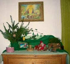 Jahreszeitentisch Dezember, Monatsfeier Dezember, Waldorfkindergarten im Dezember, Jahreszeitentisch schmücken und gestalten,