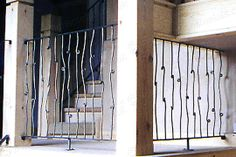 knotted wrought iron stair spindles