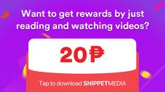 Earn as much as just by reading and watching videos on SnippetMEdia. Ph, How To Get, Coding, Videos, Summer, Summer Recipes, Summer Time, Video Clip, Programming