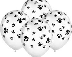 On Sale 12 Paw Print balloons Dog Party ,Cat Party, Animal Balloons Qualatex latex Balloon Dog, Balloon Animals, Animal Balloons, Grumpy Cat Birthday, Puppy Birthday, Puppy Party, Cat Party, Dog Treat Packaging, Ballon Party