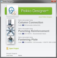 Peikko Designer modules Open Project, Connection, Coding, Plates, Projects, Design, Licence Plates, Log Projects, Dishes
