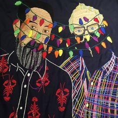 Work in progress (almost done) #tattue #tattoo #tatuaje #dibujo #dessin #drawing #peinture #pintura #paint #color #colors #couleur #art #arte #latinart #contemporaryembroidery #contemporaryart #milflores #thousandflowers #millefleures #heart #cœur #corazon #portrait #retrato #ritratto #autoportrait #selfportrait #gayflag #light