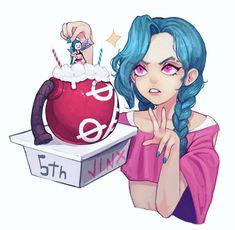 Art by namjak_kr Jinx League Of Legends, League Of Legends Characters, Im Poppy, Xayah And Rakan, Manga Hair, Female Art, Poppies, Animation, Drawings
