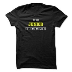 Team JUNIOR Lifetime member T Shirts, Hoodies Sweatshirts. Check price ==► http://store.customtshirts.xyz/go.php?u=https://www.sunfrog.com/Names/Team-JUNIOR-Lifetime-member-allxm.html?41382