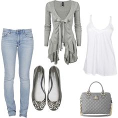 Jeans and Gray, created by adriana-boehm