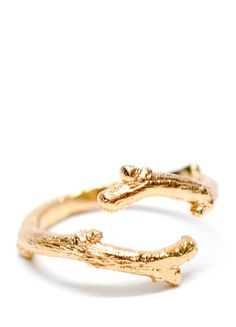 Twig Ring in Gold Vermeil