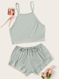 Include simplistic vests or camis to your wardrobe being a simplistic makeup to really every day fashion. Sexy Pajamas, Cute Pajamas, Pajamas Women, Pyjamas, Cute Lazy Outfits, Casual Skirt Outfits, Casual Jumpsuit, Girls Fashion Clothes, Teen Fashion Outfits