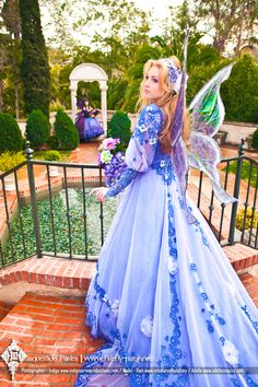 Lavender Masquerade Fairy » Firefly Path  Inspiration for the back of the princess's skirt, flower cascade