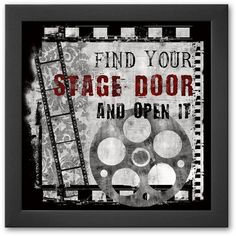 Art.com ''Stage Door'' Framed Art Print by Conrad Knutsen (Soho Thin) ($69) ❤ liked on Polyvore featuring home, home decor, wall art, soho thin, wooden wall art, wooden home decor, door wall art, wood home decor and wood wall art