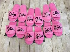 Girls Spa Slippers/ Girls Spa Party Favors/ Girls Spa Birthday Party/ Tween Spa Party/ Slumber Party Favors/ Girls Slippers/ Girls Sleepover in 2019 . Adult Slumber Party, Slumber Party Favors, Spa Day Party, Slumber Party Birthday, Kids Spa Party, Sleepover Birthday Parties, Girl Sleepover, Birthday Party Decorations, Girl Birthday