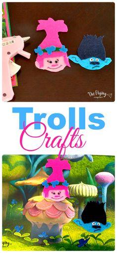 Easy Trolls Crafts. Cool DIY Crafts for Kids. The Flying Couponer.