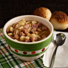 Smoky Ham, Bean, Sweet Potato Soup: It might not look good on camera, but what it lacks in looks it makes up for with flavor.
