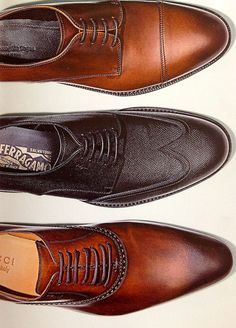I love men's shoes. Can't you just smell the leather?