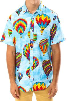 Sometimes working in mens clothing makes me wish I had a man to dress. LOVE this Odd Future Balloon Button-Up Shirt.
