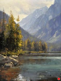 Taggart Lake Evening by Stacey Peterson Oil ~ 16 x 12