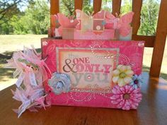 One & Only You Girly Mini-Album made from envelopes; Luv This One!