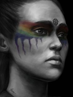 #Heda art #Lexa #CommanderLexa