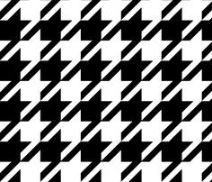 The Houndstooth Check - Stevie & Paul fabric by peacoquettedesigns on Spoonflower - custom fabric