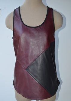 tibi Top burgundy /black SIZE 2 XS NEW $240