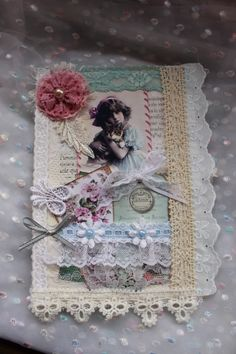 Altered lace book page