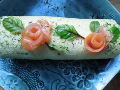 Bûche salée au  saumon