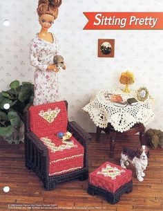 Rare Fashion Barbie Kelly Doll house LIVING ROOM by LUVFUR on Etsy