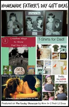 Mom to 2 Posh Lil Divas: Kid's Homemade Father's Day Gift Ideas {The Sunday Showcase Homemade Fathers Day Gifts, Fathers Day Crafts, Happy Fathers Day, Homemade Gifts, Gifts For Hubby, Daddy Day, Father's Day Diy, Book Themes, Cute Images