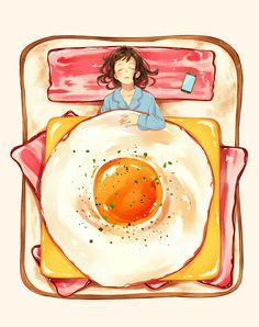 Ideas Illustration Art Girl Anime Draw For 2019 Ideas Illustration Art Girl Anime Draw For You can find illu. Cute Food Art, Creative Food Art, Food Art For Kids, Cute Art, Art And Illustration, Food Illustrations, Japanese Illustration, Cute Food Drawings, Cute Kawaii Drawings