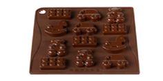 """MULTISTAMPO """"Toys"""" - PAVONI ITALIA s.p.a.  Stampo multiporzione n° 12 moduli, in silicone platinico.  Dimensioni piastra: 180x175mm Altezza Modulo: 15mm"""