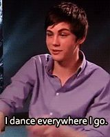 Haha! Why?--- person who said that... Don't question Logan Lerman (aka percy Jackson)