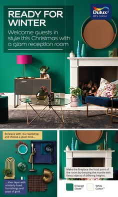 This winter be sure to wow your guests with a gorgeous Emerald Green