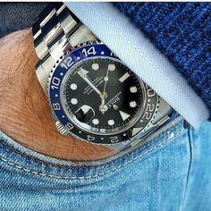 "Rolex Oyster Perpetual Date GMT Master II ""Batman"" 116710 BLNR 40mm"