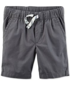 Carter's Woven Cotton Shorts, Toddler Boys (2T-5T) - Gray 3T