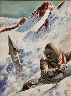 Astronauts in an avalanche - Virgil Finlay