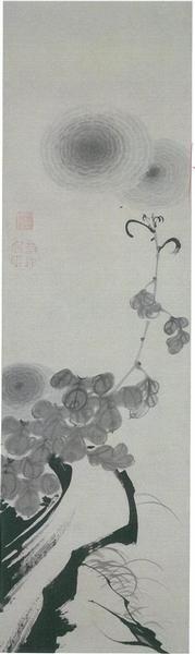 菊花図 Chrysanthemum 伊藤若冲 ITO Jakuchu