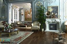 the classic country house on Behance