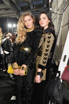 BALMAIN X H&M Collection Launch - Backstage | Besties Gigi Hadid and Kendall Jenner Hanging Out Backstage at Balmain