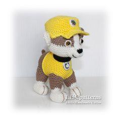 Rubble Pup Paw Patrol Pattern, crochet puppy pattern, dog crochet pattern, puppy crochet pattern, rubble crochet pattern, paw patrol crochet by LHCpatterns on Etsy