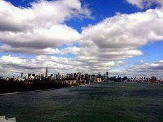 Manhattan city view from Williamsburg Bridge