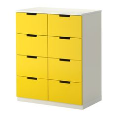 NORDLI Ladekast 8 lades - geel/wit - IKEA