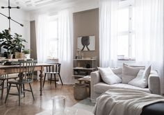 my scandinavian home: Get The Look: open plan sitting room and dining area