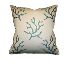 An easy breezy way to bring the ocean home! (Ocean Reef Azure Pillow by Barclay Butera Home)