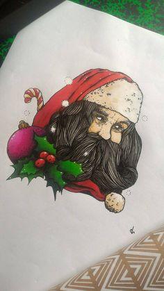 Père Noël - Promarker & Encre de Chine