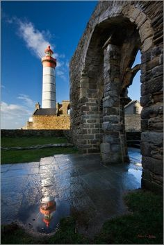 Phare St Mathieu Lighthouse.