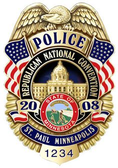 a badge of a police officer