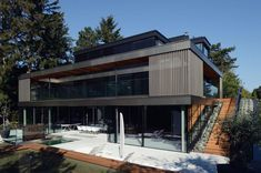 Contemporary private home in Vienna Austria All About the Outdoors: Energy Efficient Multi Level Home in Vienna