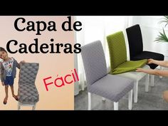 Capa para Cadeiras:Simples,Fácil e Barata - YouTube Home Repair, Pillow Covers, Interior Decorating, Projects To Try, Pillows, Sewing, Crafts, Furniture, Ely